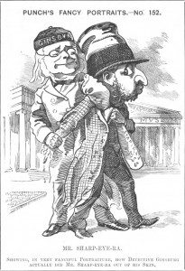 British cartoon of Shapira (on the right)